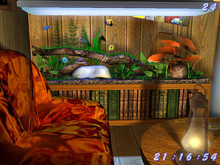 download 3D Bungalow Aquarium Screensaver