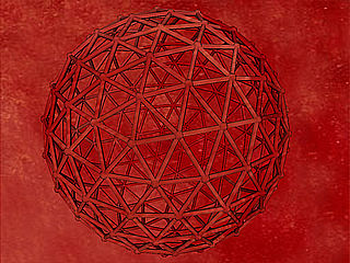 download 3D Geodesic Red Screensaver