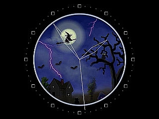 download Halloween Night Clock Screensaver