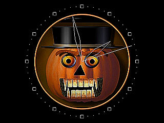 download Halloween Pumpkinhead Clock Screensaver