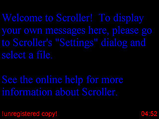 download Scroller v1.0 Screensaver