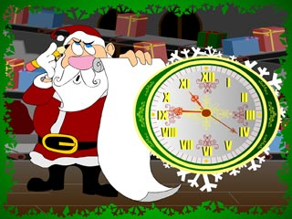 download 7art Santa Claus Clock Screensaver