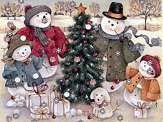 download Christmas (Snowman's Family)  Screensaver
