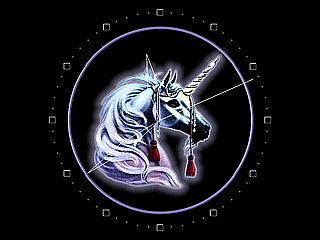download Unicorn Clock Screensaver