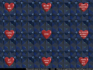 download Valentine (Hearts Of Love v104) Screensaver