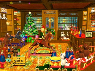 download 3D Magic Christmas Toy Shop Screensaver