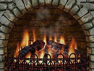 download 3D Realistic Fireplace Screensaver
