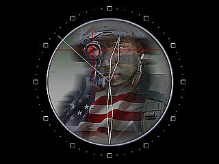 download American Soldier At War Clock Screensaver