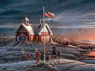 download American Winter Scene Screensaver
