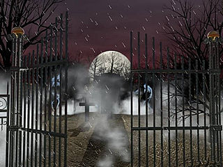 download Halloween (A Graveyard Rain) Screensaver