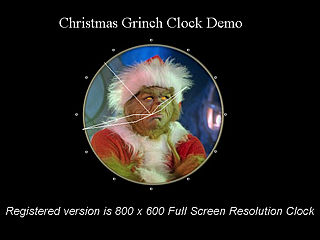 download Christmas (Grinch Clock) Screensaver