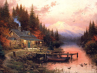 download Cottages by Thomas Kinkade Screensaver