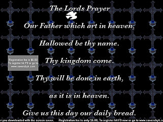 download The Lords Prayer v503 Screensaver