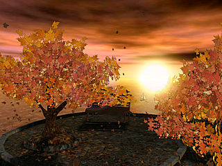 download Autumn Sunset Animated Screensaver by Elefun