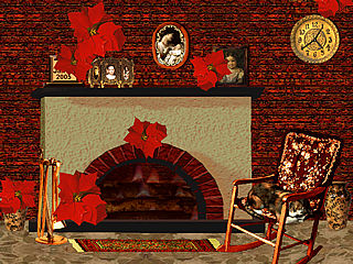 download 3D Cozy Winter Fireplace Screensaver