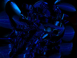 download 3D Midnight Blue Screensaver