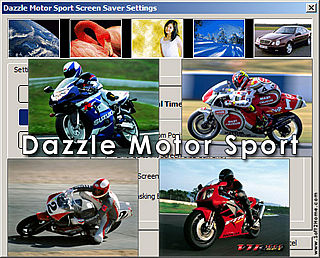 download Dazzle Motor Sport Screensaver