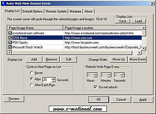 download E-Auto Web View v3.0 Screensaver
