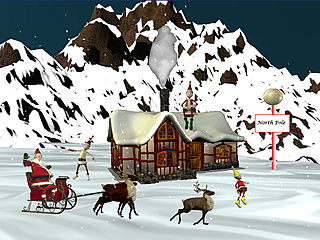 download Christmas At The North Pole Screensaver