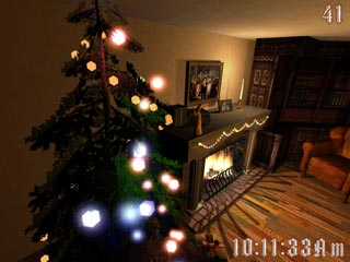 download Christmas Fireplace 3D Screensaver