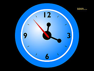 download 7art Soon Clock v1.1 Screensaver
