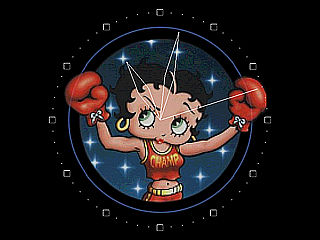 download Betty Boop Boxing Clock Screensaver