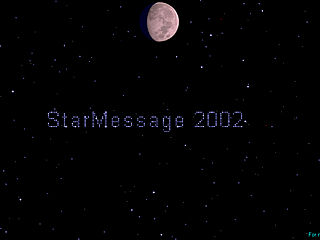 download StarMessage v2003-Night Sky Screensaver