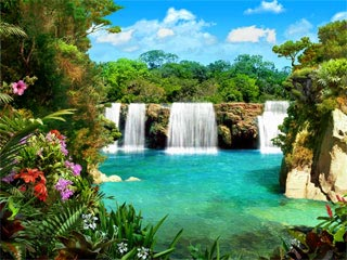 download Living 3D Waterfalls 3 Screensaver v1.1