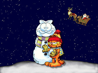 download Christmas (A Garfield's Snowman) Screensaver