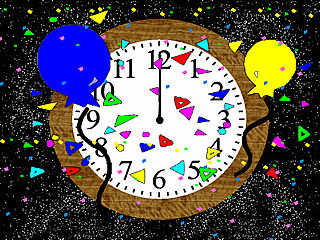 download New Years Clock Screensaver