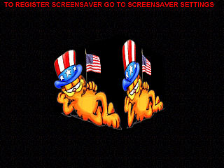 download Patriotic Garfield Screensaver