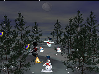 download Snowman Dancing In The Moonlight Screensaver