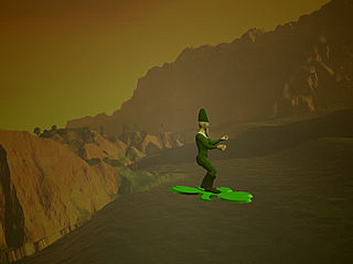 download St. Patrick's Day (3D Shamrock Surfing Leprechaun) Theme